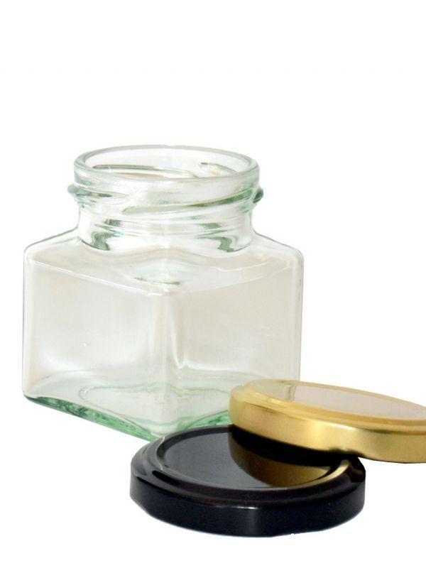 Jam Jars Square Glass 130ml 3
