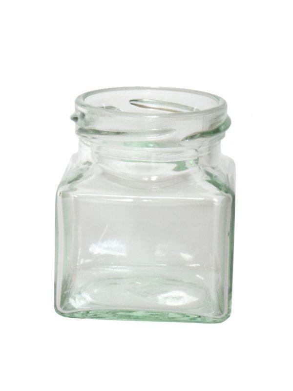 Jam Jars Square Glass 130ml 2