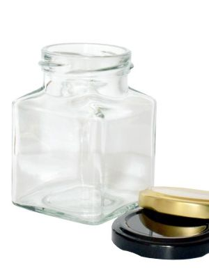 Jam Jars Square Glass 200ml