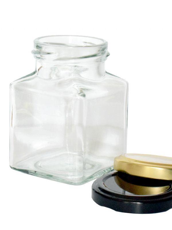 Jam Jars Square Glass 200ml 3