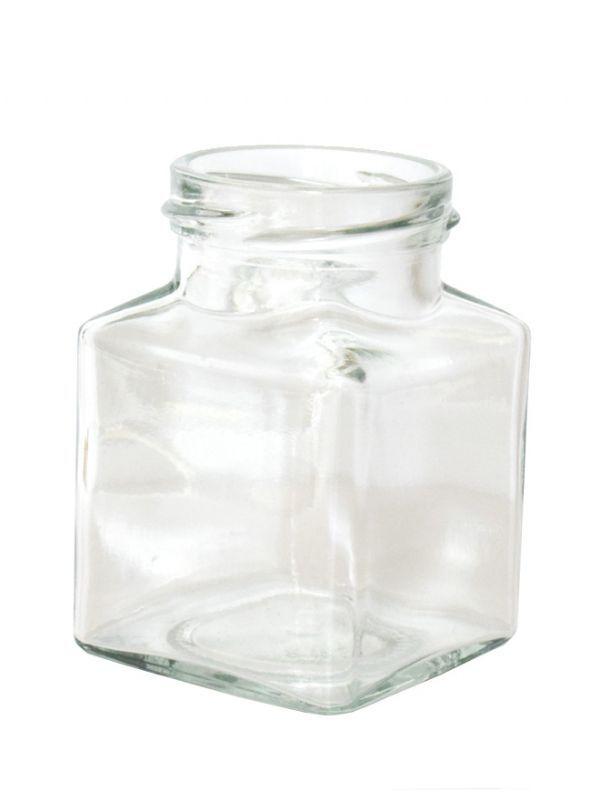 Jam Jars Square Glass 200ml 1