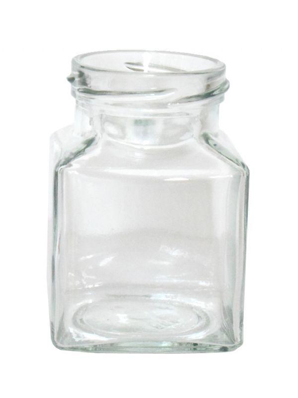 Jam Jars Square Glass 200ml 2