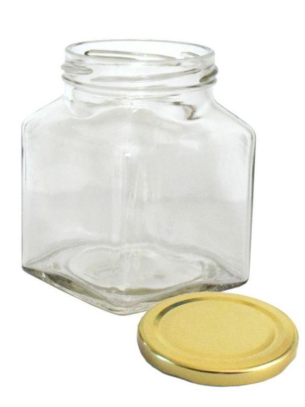 Jam Jars Square Glass 314ml 6