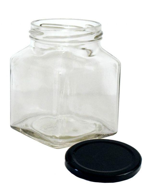 Jam Jars Square Glass 314ml 7