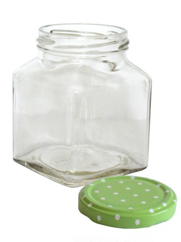 Jam Jars Square Glass 314ml 3