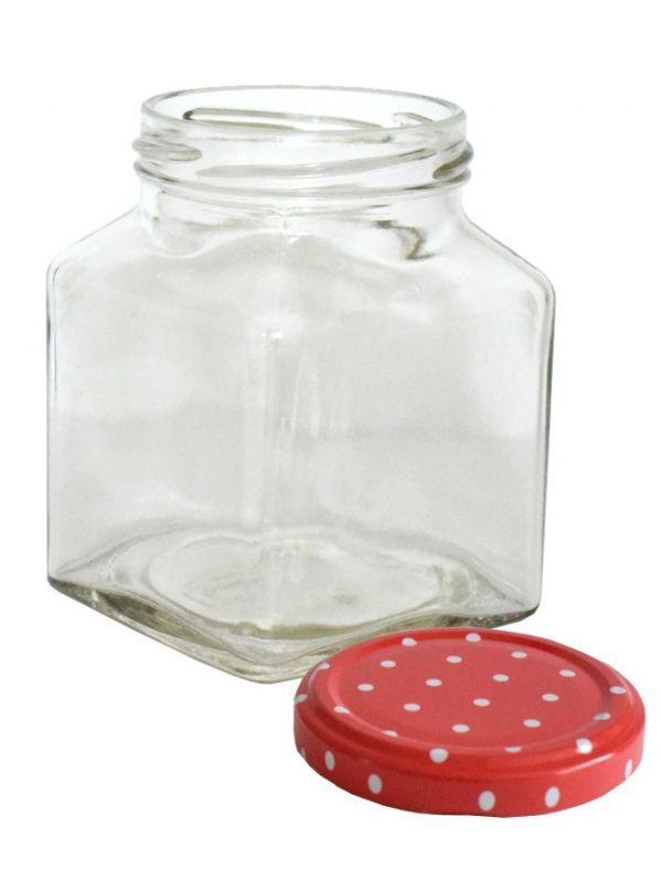 Jam Jars Square Glass 314ml 4