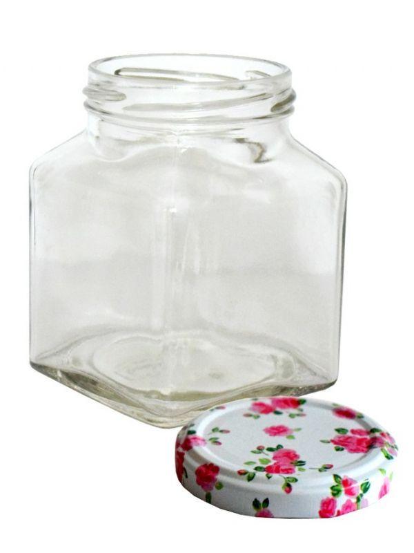 Jam Jars Square Glass 314ml 5