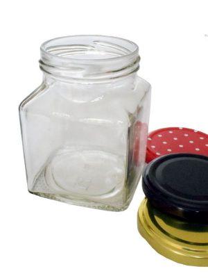 Jam Jars Square Glass 314ml