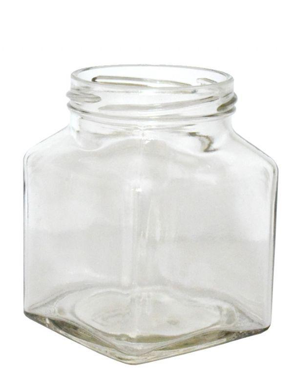 Jam Jars Square Glass 314ml 1