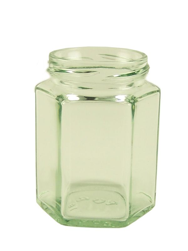 Jam Jars Hexagonal Glass 190ml Pallet (3330)