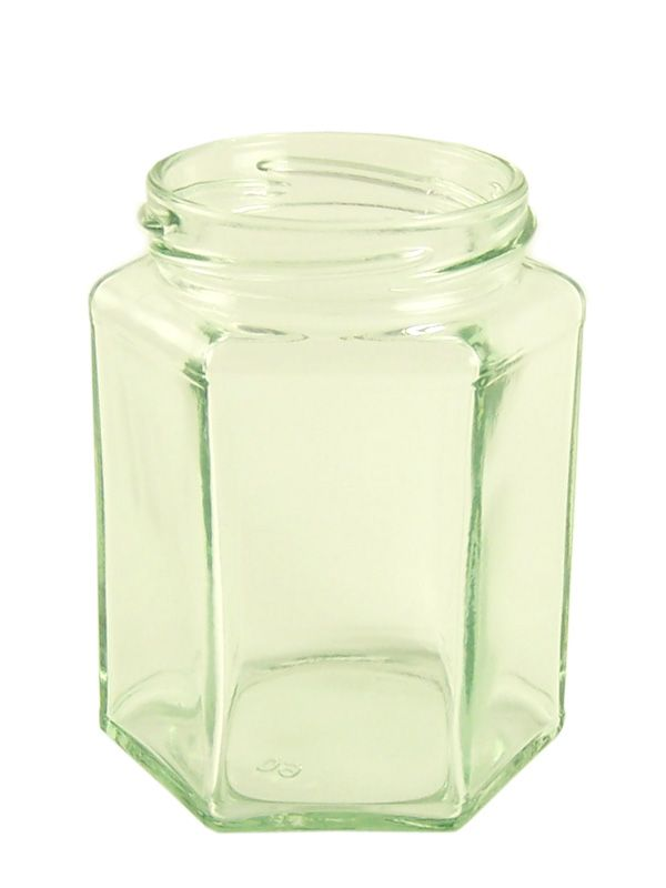 Jam Jars Hexagonal Glass 280ml/12oz (2376)