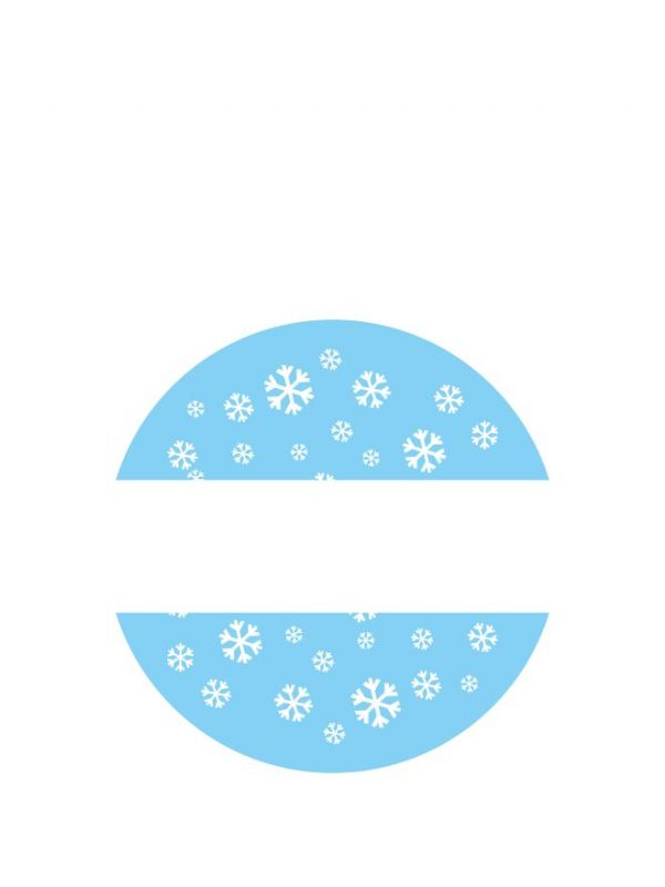 Lid Labels 40mm Christmas Snow