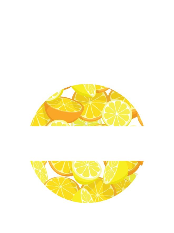 Lid Labels 40mm Orange & Lemon