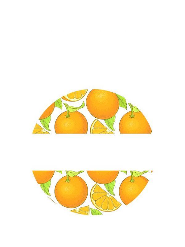Lid Labels 40mm Marmalade