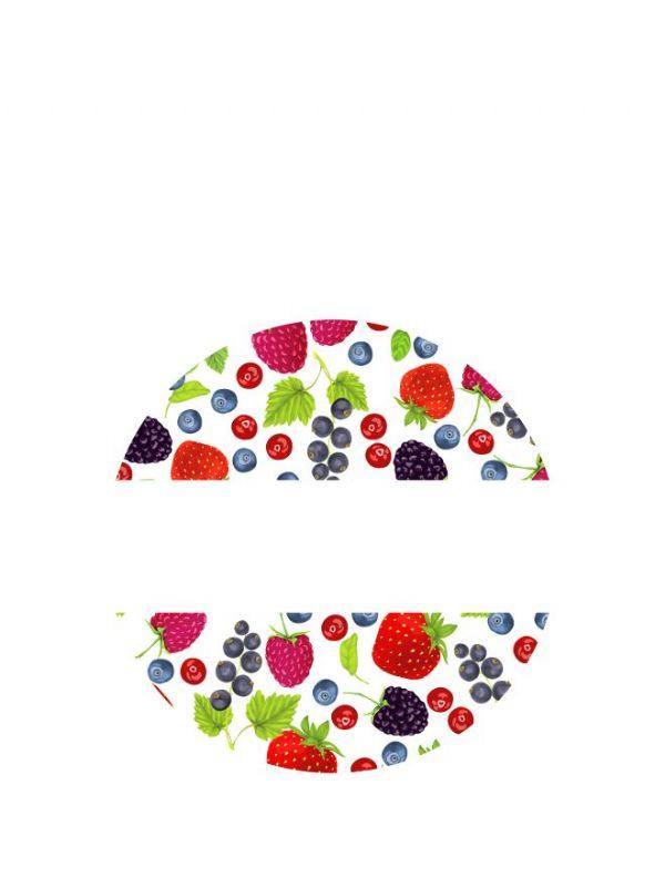 Lid Labels 40mm Mixed Berries