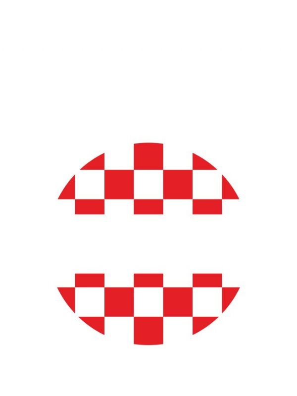 Lid Labels 40mm Red Gingham