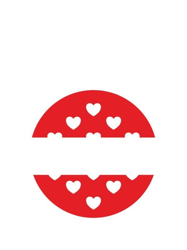 Lid Labels 40mm Red Hearts 1