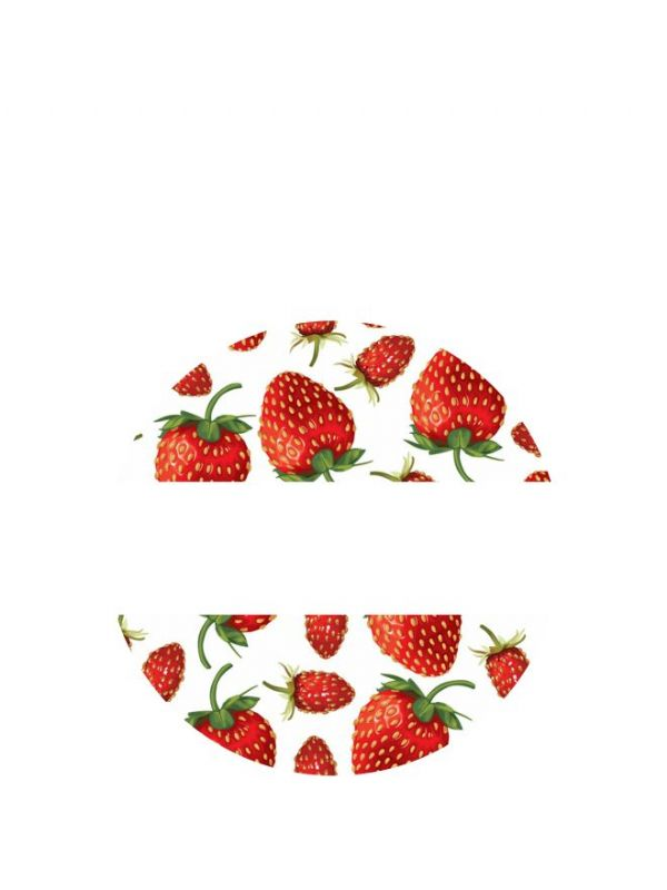 Lid Labels 40mm Strawberry