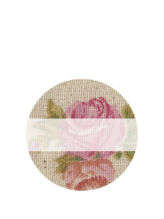 Lid Labels 40mm Vintage Rose