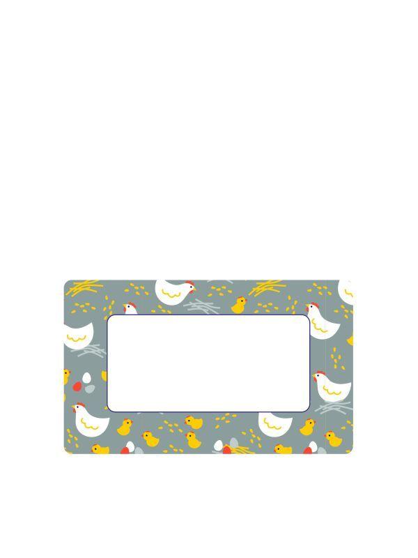 Grey Hen Labels 63x38mm DISC