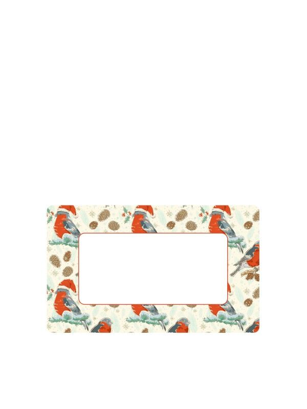 Christmas Winter Robin Labels 63x38mm