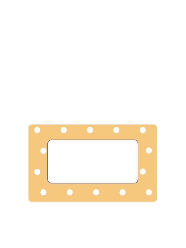 Mustard Spot Labels 63x38mm