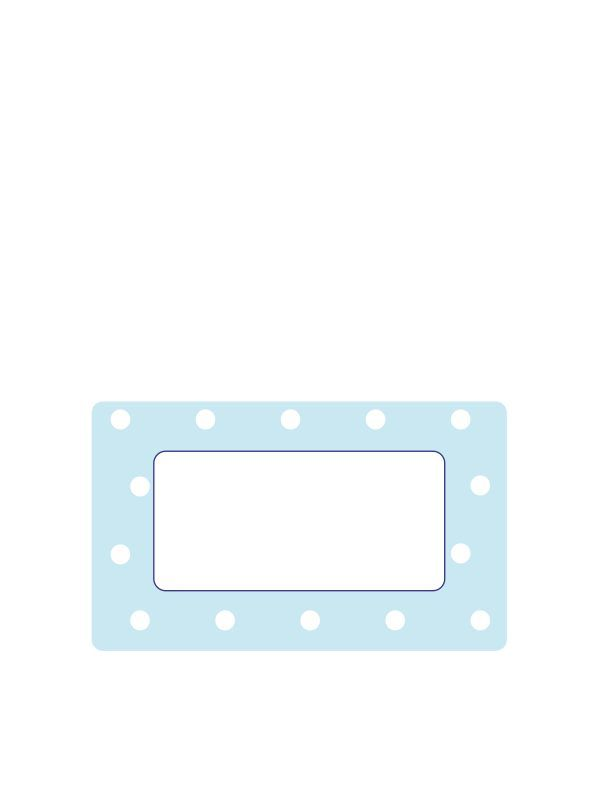 Pale Blue Spot Labels 63x38mm