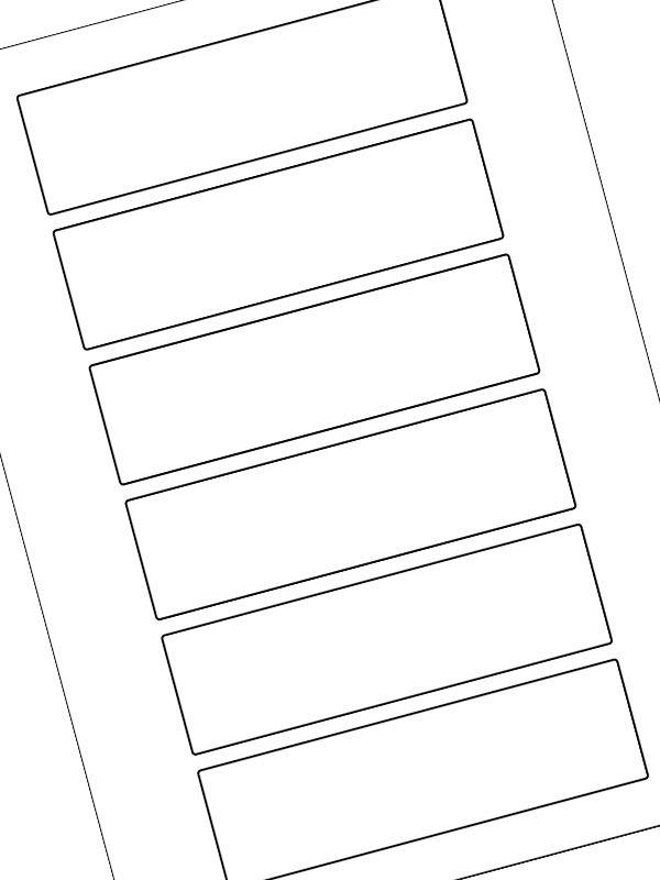 Labels Plain White 140x40mm (20xA4)