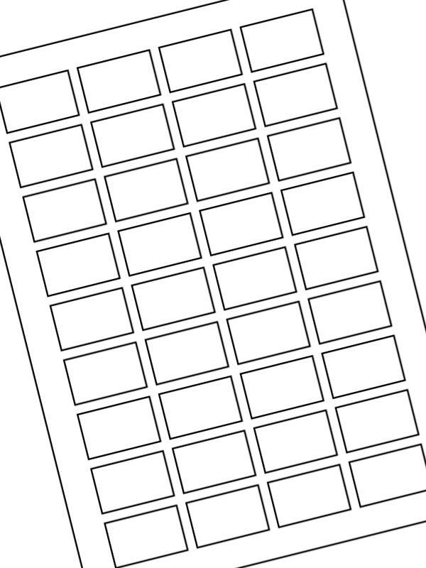 Labels Plain White 40x25mm (10xA4)