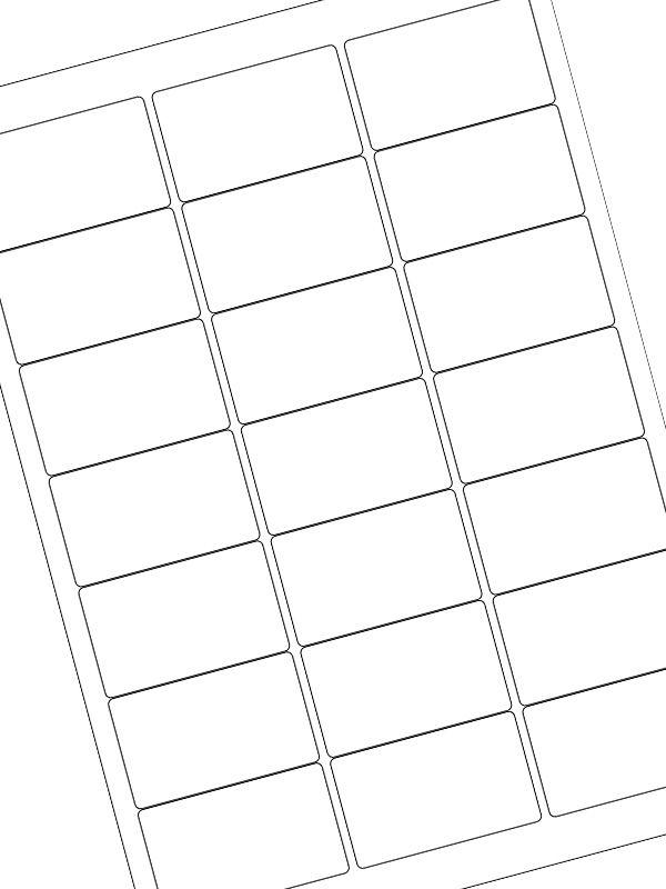 Labels Plain White 63.5x38.1mm (20xA4)