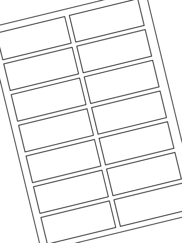 Labels Plain White 80x35mm (20xA4)