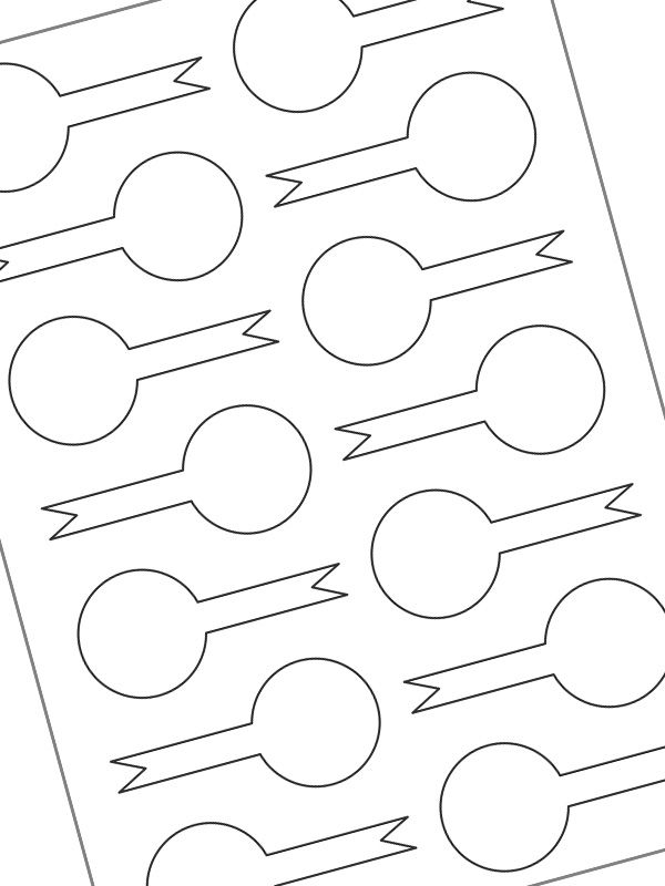 Labels Plain White 85x40mm Tamper Lollipop (20xA4)
