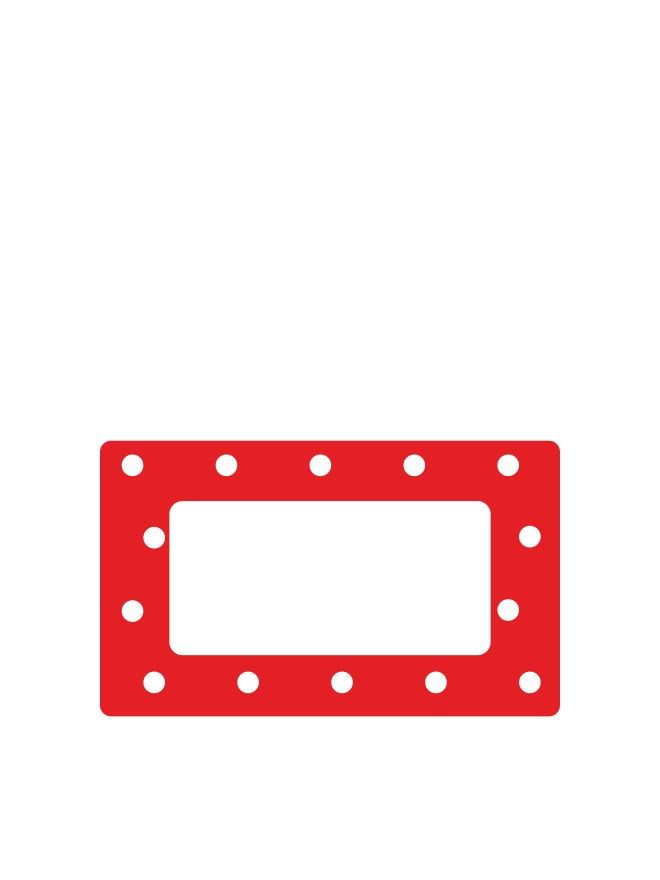 Red Spot Labels 63x38mm