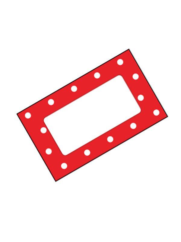 Jar Labels Red Spot 63x38mm (x42)