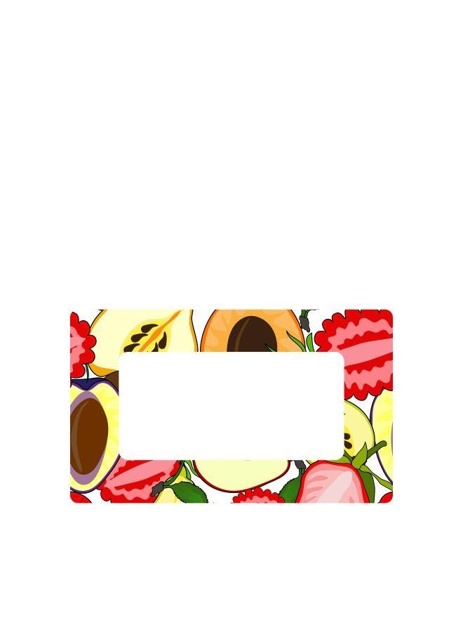 Summer Fruits Labels 63x38mm DISC