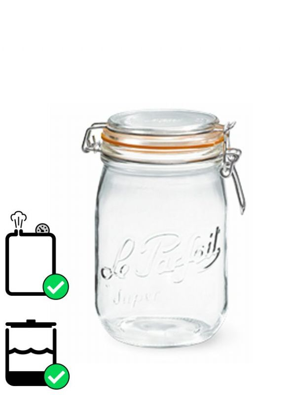 Le Parfait Super Clip Top Preserving Jar (x6) 1000ml