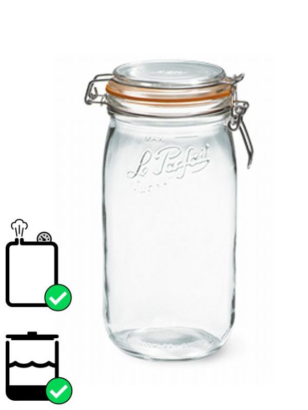 Le Parfait Super Clip Top Preserving Jar (x6) 1500ml