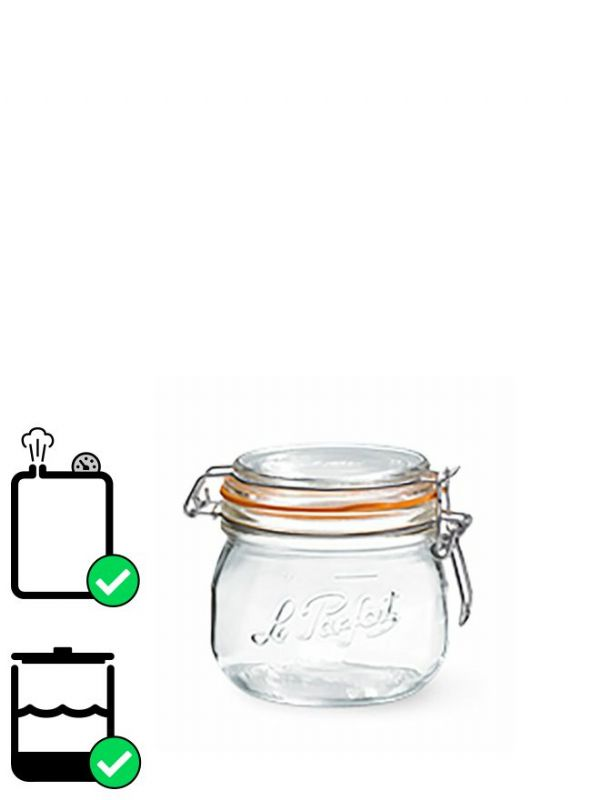 Le Parfait Super Clip Top Preserving Jar (x6) 250ml