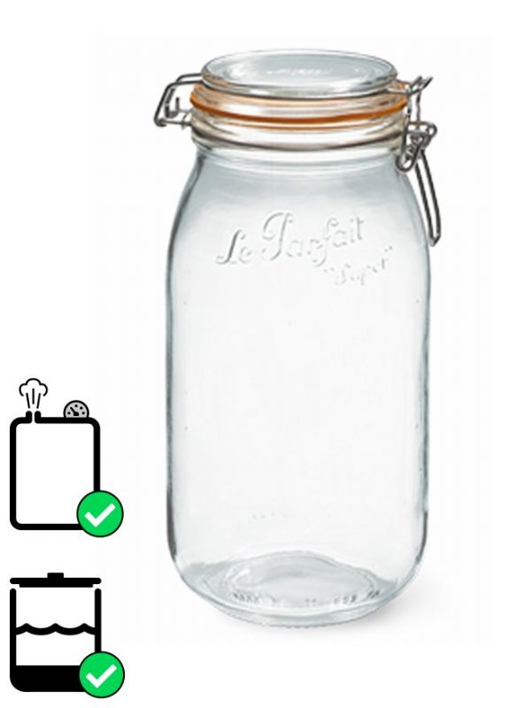 Le Parfait Super Clip Top Preserving Jar (x6) 2000ml