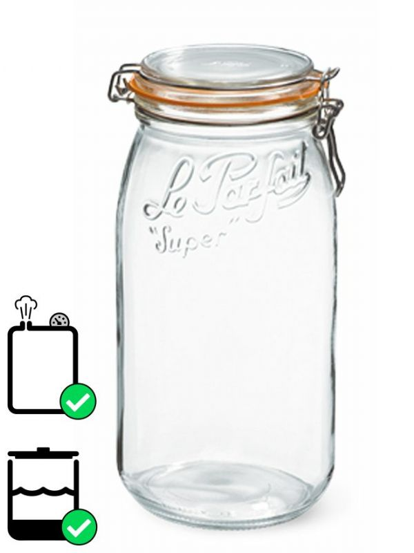 Le Parfait Super Clip Top Preserving Jar (x3) 3000ml