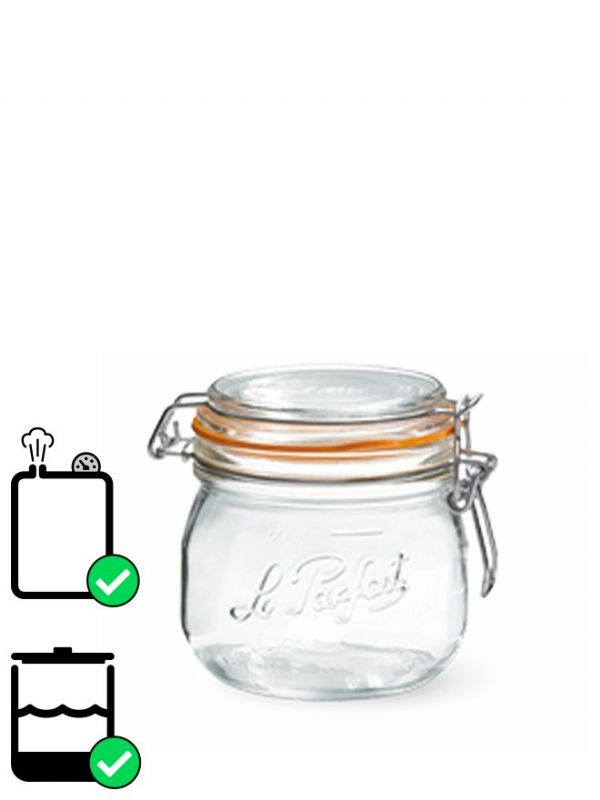 Le Parfait Super Clip Top Preserving Jar (x6) 500ml