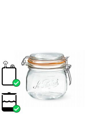 Love jam jars | Le Parfait Super Clip Top Preserving Jar (x6) 500ml Pack 6