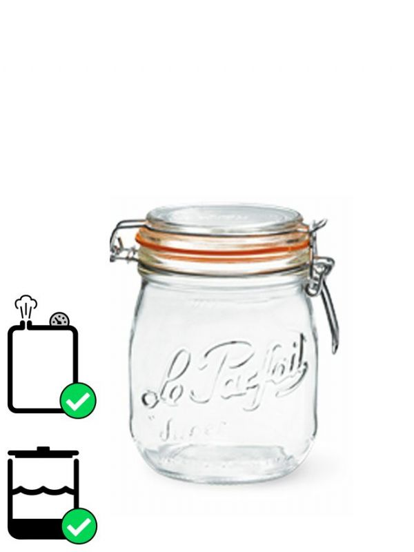 Le Parfait Super Clip Top Preserving Jar (x6) 750ml