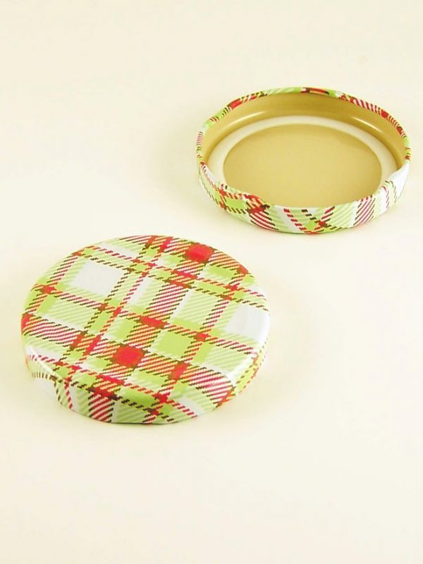 Jam Jar Lid 063 Summer Frocks - Plaid