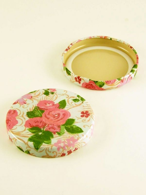 Jam Jar Lid 063 Summer Frocks - Rose Large
