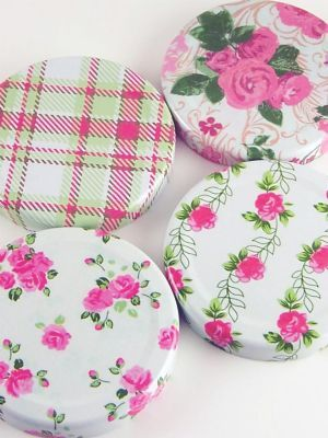 Love jam jars | - Summer Frocks Jar Lids