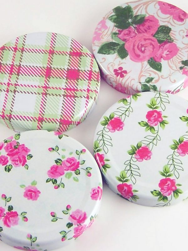 Jam Jar Lid 063 Summer Frocks Mixed Designs