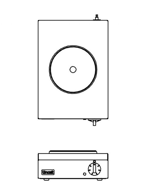 Lincat Electric Boiling Hob (2kw Single) 2