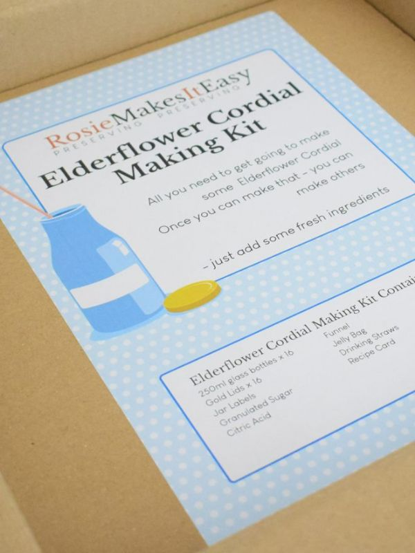 Rosie Makes It Easy Elderflower Cordial Making Kit