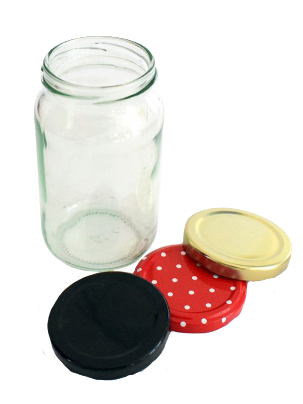 Jam Jars Round Glass 370ml 1lb
